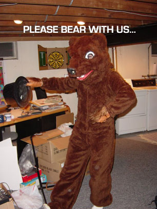 Bear with us, please!